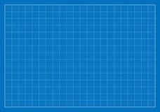 空白的图纸,栅格,建筑学 免版税库存图片