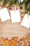 空白的圣诞节照片框架 库存照片