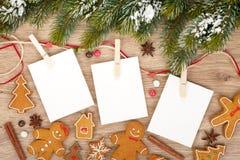 空白的圣诞节照片框架 免版税库存图片