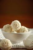 空白的块菌状巧克力 库存照片