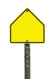 空白的学校区域交通标志 免版税库存照片