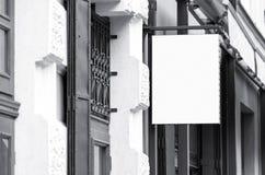 空白的室外商业标志大模型 免版税库存照片