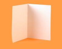 空白的小册子 免版税库存照片