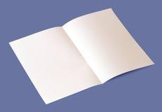 空白的小册子 免版税图库摄影