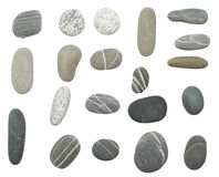 空白的小卵石 免版税图库摄影