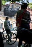 空白的帆布街道艺术节日 免版税库存照片