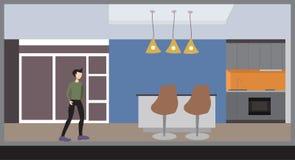 空白的广告广告牌紫罗兰颜色 免版税图库摄影