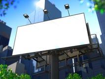 空白的广告牌。 免版税图库摄影