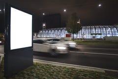空白的广告牌或海报在城市 图库摄影