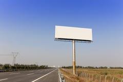 空白的广告牌 图库摄影