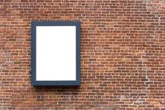 空白的广告的海报板 库存图片