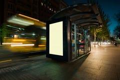 空白的户外广告风雨棚 库存图片