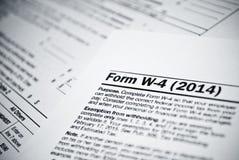空白的所得税形式。美国人1040个体收入税单形式。 免版税库存图片