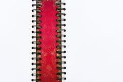 空白的文具在介绍和事务/书的,白纸红色背景设置了 免版税库存照片