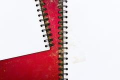 空白的文具在介绍和事务/书的,白纸红色背景设置了 库存照片