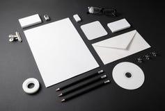 空白的文具模板 免版税库存照片