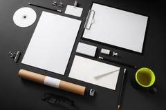 空白的文具模板 免版税图库摄影