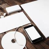 空白的文具模板 免版税库存图片