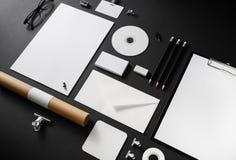 空白的文具集合 免版税库存照片