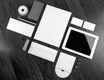 空白的文具集合 免版税图库摄影