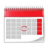 空白的日历的传染媒介例证 库存图片