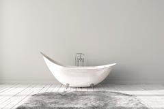 空白的明亮的卫生间 免版税库存图片