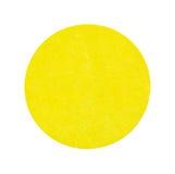 空白的明亮的黄色车库售物贴纸 库存照片