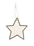空白的星价格挂衣架 库存照片