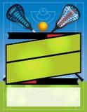 空白的曲棍网兜球飞行物背景 库存照片