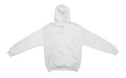 空白的有冠乌鸦运动衫颜色白色后面视图 免版税库存照片