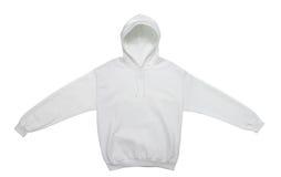 空白的有冠乌鸦运动衫颜色白色正面图 免版税库存照片