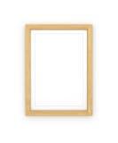 空白的木制框架, 免版税图库摄影