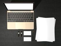 空白的杂志和笔记本 免版税图库摄影