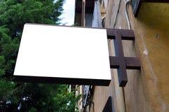 空白的标志商店和餐馆 免版税图库摄影