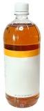 空白的标签瓶苹果汁醋 免版税库存图片