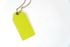 空白的标签(标记)栓有stringon白色背景 艺术品企业例证您价牌的向量 库存图片