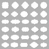 空白的框架和标号组 库存图片