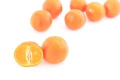 空白的桔子 免版税图库摄影