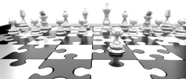 空白的棋子 免版税库存图片
