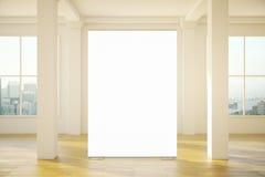 空白的横幅在屋子里 图库摄影