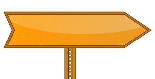 空白的橙色路标 库存例证