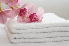 空白的毛巾 库存照片