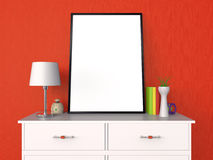 空白的海报和照片框架介绍3D 免版税库存图片