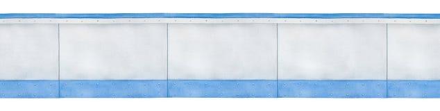 空白的灰色盘区的无缝的边界样式 库存例证