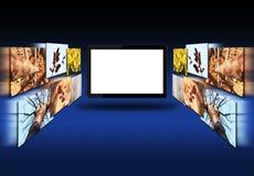 空白的片剂个人计算机和图象 图库摄影