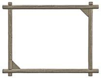 空白的牌框架,被隔绝的拷贝空间,灰色木纹理 免版税库存图片