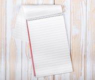 空白的现实螺旋笔记薄 免版税库存照片
