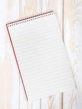 空白的现实螺旋笔记薄 免版税库存图片