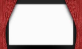 空白的电影院屏幕 免版税库存照片