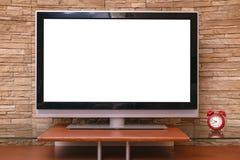 空白的电视机 图库摄影